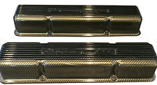 Small Block Chevy Vintage Valve Covers Holley 241-108 Gold Carbon Fiber