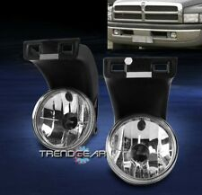 1994-2001 DODGE RAM 1500 2500 3500 PICKUP BUMPER DRIVING FOG LIGHTS LAMPS CHROME