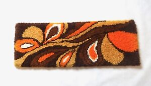 PSYCHEDELIC 70S  MID CENTURY ORIGINAL ABSTRACT VINTAGE WALL CARPET RUG