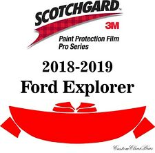 3M Scotchgard Paint Protection Film Pro Series Clear 2018 2019 Ford Explorer