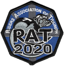 2020 Riders Association of Triumph Motorcycles RAT Patch Badge