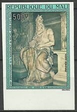 Mali 500th Anniversary of Michelangelo Birthday Sculpture of Moise Imperf **1975