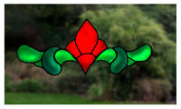 Long Edwardian Stained Glass Effect Window Decal/Cling