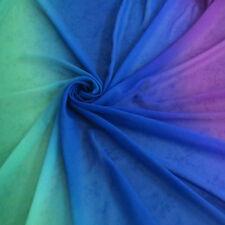 2 Yard Green Blue Purple Gradient Chiffon Fabric Fashion Dress Material Textile