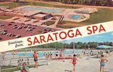 Latham New York Saratoga Spa Pools Vintage Postcard K63821