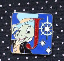 Disney Pin Pinocchio Mystery Alphabet Letter J for Jiminy Le Glitter Chaser Bd