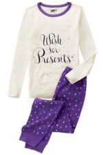 NWT Toddler Girls Crazy 8 WISH FOR PRESENTS Pajamas 2T HOLIDAY Stars PJ NEW