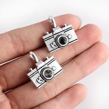 10PC Antique Silver 3D Camera Charm Pendant 22*21mm For DIY Jewelry Making