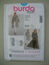 UNCUT Burda Sewing Pattern 7240 - Womens Misses Coat - Sizes 18-30