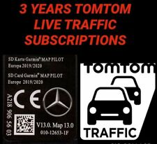 BRAND NEW 2020 V13 MERCEDES GARMIN SD CARD WITH 3 YEARS TOMTOM LIVE TRAFFIC MAPS