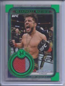 2019 Topps UFC Museum Henry Cejudo Meaningful Material Relic 1/1 Emerald