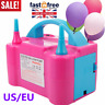 Double Nozzles Electric Party Balloon Inflator Blower Pump Air Portable 240V UK