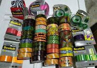 Lot of 46 Rolls 3M Scotch Expressions, Washi, Masking & Shipping Tape 24 colors!