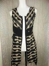 Retro Beige Black Knit Sweater Dress  Cardigan by 'Ultimate' zipper front
