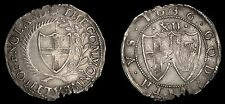 Commonwealth of England 1656 Silver Shilling N. 2724- S. 3217 Very Rare Coin VF+