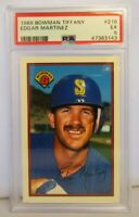 PSA Graded 5 EX 1989 Bowman Tiffany Edgar Martinez Baseball Card # 216 MARINERS