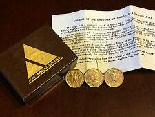 Vintage Gold Roman Coin Brooch - Soldier Emperor - Victory Pin - Alva Museum