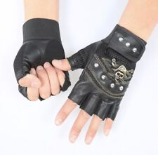 Gym Weight Training Outdoor Fitness Racing Sport Leather Gloves Fingerless Large