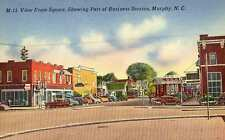 1939 MURPHY NC Business Area from Square 1950s Cars c postcard