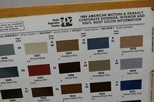1984 Corporate PPG Paint Color Chips, AMC Renault Chrysler, Ford +, Free US Ship