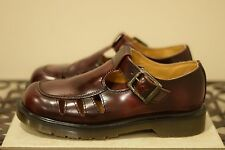 Burgundy made in England DR. MARTENS Mary Jane strap buckle shoes UK 6