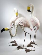 Midcentury Mexican Paper Mache Group Flamingo Sergio Bustamante Style Birds