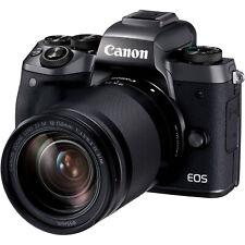 Canon EOS M5 24.2MP Digital SLR Camera - Black (Kit w/ EF-M 18-150mm Lens)