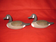 Pair Of Miniature Decoy Canada Goose By Captain Jess Urie Rock Hall