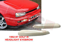 1992 1997 VolksWagon MK3 Golf 3 Headlight Eyebrow Cover White Unpainted Plastic