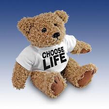 "Wham "" Choose Life "" Teddy Bear Gift Present T-Shirt Cuddly Bear"