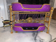 Monster High Dead Tired Clawdeen Wolf Purple Room to Howl Bunk Bed Playset