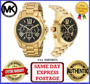 Michael Kors MK5739 Bradshaw Gold and Black Chronograph Womens Wrist Watch
