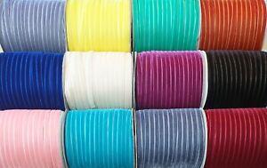 Velvet Ribbon Premium Quality 10mm 55 Colours
