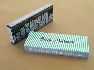 New Letterpress type -= 7 pounds of leads & slugs - $5 a pound!