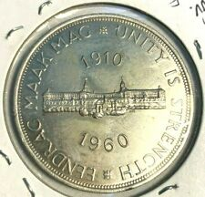 SOUTH AFRICA 5 SHILLINGS 1960 SILVER-HIGH-GRADE! Proof-like - Large World Coin-