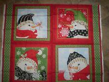 Imagine Snowmen - Christmas panel.  100% cotton