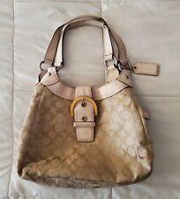 coach handbags Beige Light Pink pat