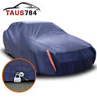 Full Car Cover For Outdoor Sun Dust Scratch Resistant Waterproof Shelter W Lock