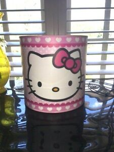 "Hello Kitty Pink Polka Dot Heart lamp shade 7.5"" Diameter 7.75"" tall round New"
