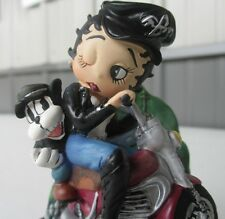 Limited Edition Betty Boop on Motorcycle with glass dome 1997