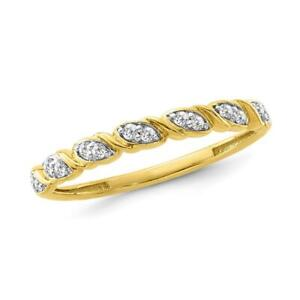 1/10 Carat Diamond Wave Fashion Band in Yellow Gold-Plated Sterling Silver