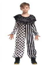 Kids Halloween Killer Clown Childs Boys Girls Fancy Dress Circus Horror Costume