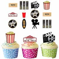 PRECUT Hollywood Film / Movie Party Night 36 Edible Cupcake Toppers Decorations