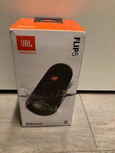 JBL Original HARMAN Flip 5 Black Portable Bluetooth Speaker, Never Opened