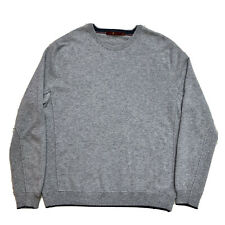 Mens XL 7 For All Man Kind Heather Grey 100 % Cashmere Crew Neck Sweater