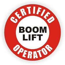 Certified Boom Lift Operator Hard Hat Decal / Helmet Sticker Label Crane Truck