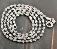 Wedding Reliable 9K White Gold Filled Water Wave Womens Chain 45cm,Free Shipping