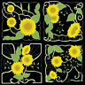 SUNFLOWER BLOCKS - 36  MACHINE EMBROIDERY DESIGNS (AZEB)