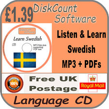 Listen & Learn Swedish Language Courses CD  mp3 audio & text
