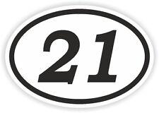 21 Twenty-un numero OVALE Adesivo Paraurti Decalcomania MOTOCROSS motociclo aufkleber